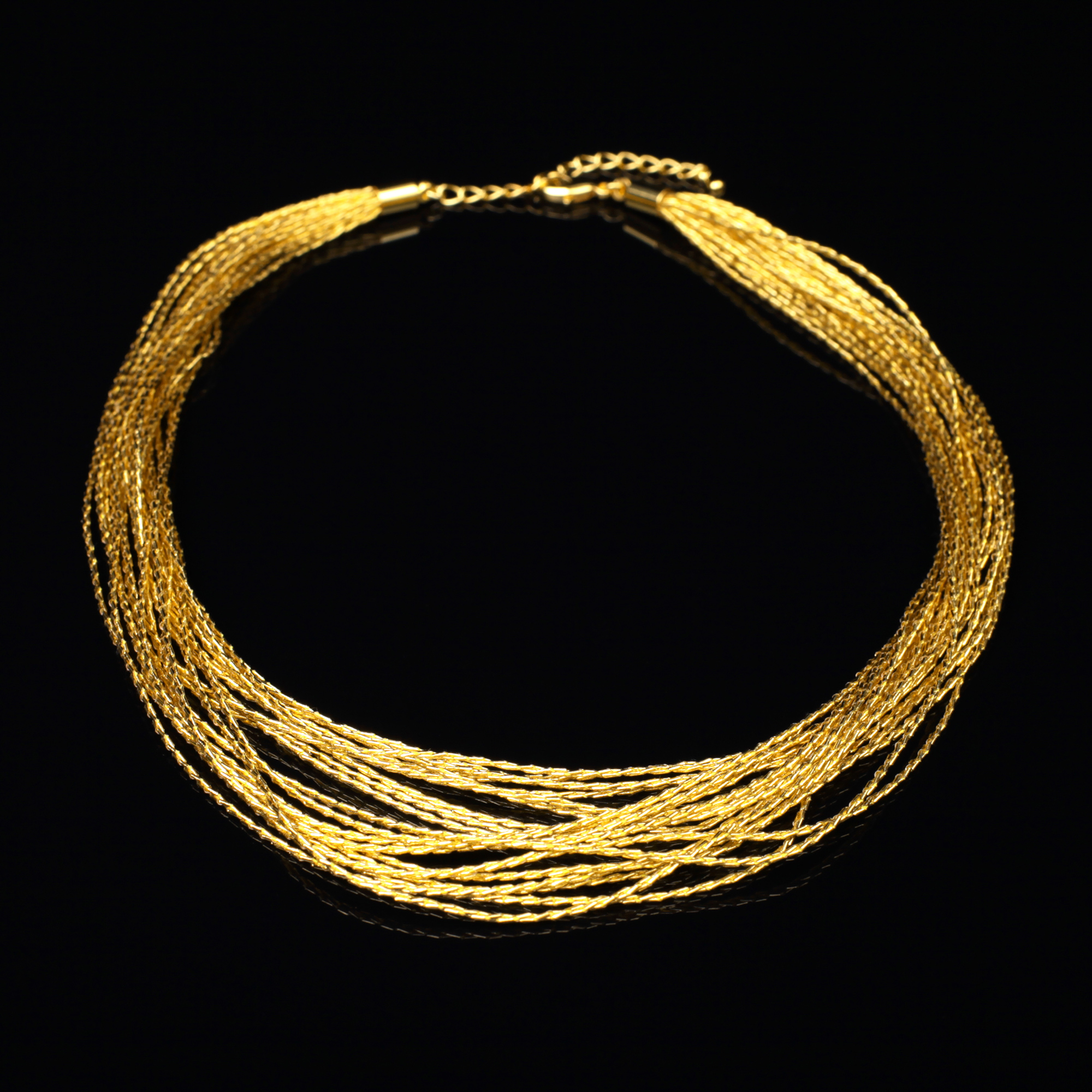 和の彩 金銀糸ネックレス/ペンダントの商品写真です。型番:659-083 画像その1