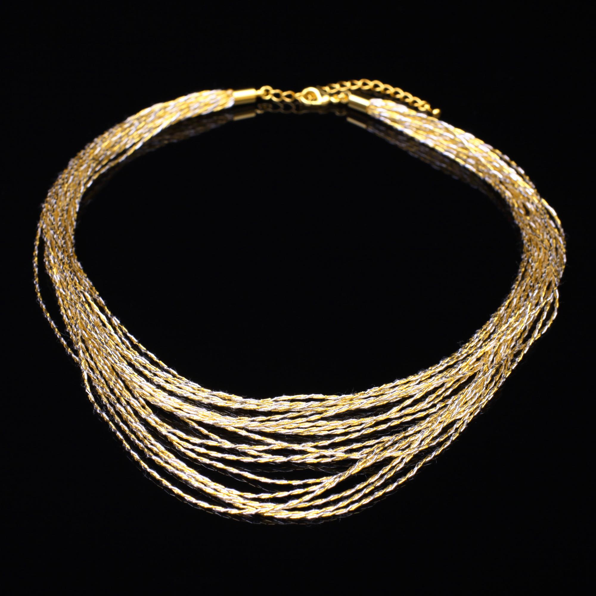和の彩 金銀糸ネックレス/ペンダントの商品写真です。型番:659-084 画像その1