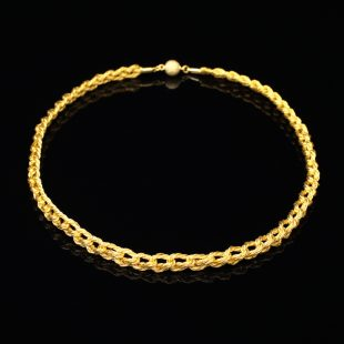 和の彩 金銀糸ネックレス/ペンダントの商品写真です。型番:659-097 画像その1