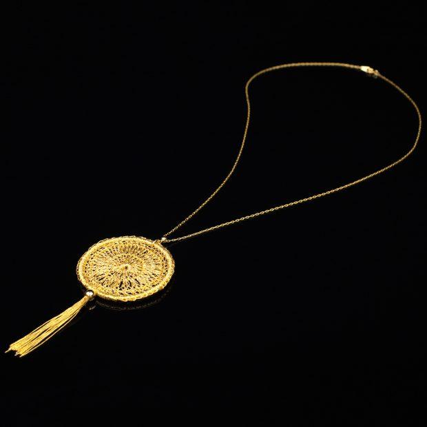 和の彩 金銀糸ネックレス/ペンダントの商品写真です。型番:659-142 画像その1