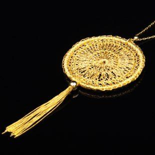 和の彩 金銀糸ネックレス/ペンダントの商品写真です。型番:659-142 画像その2