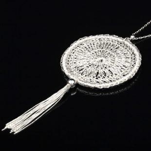 和の彩 金銀糸ネックレス/ペンダントの商品写真です。型番:659-143 画像その2