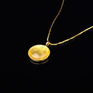 宝石クォーツ・水晶を使った和の彩 金銀糸ネックレス/ペンダントの商品写真です。型番:659-157 画像その2