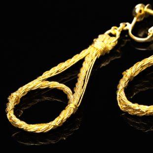 和の彩 金銀糸ピアスとイヤリングの商品写真です。型番:658-940 画像その4