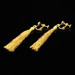 和の彩 金銀糸ピアスとイヤリングの商品写真です。型番:658-942 画像その3