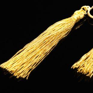 和の彩 金銀糸ピアスとイヤリングの商品写真です。型番:658-942 画像その4