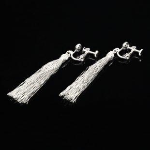 和の彩 金銀糸ピアスとイヤリングの商品写真です。型番:658-943 画像その3